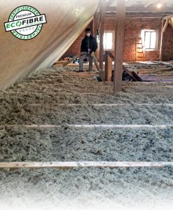 Nicht brennbare Dachbodendämmung